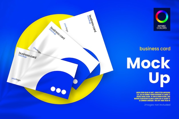 Floating business card mockup design
