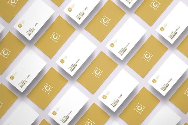 Floating business card mockup layout