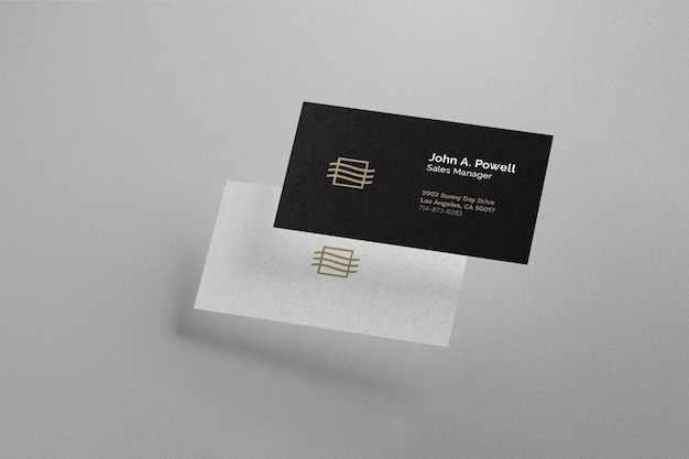 Floating business card mokcup