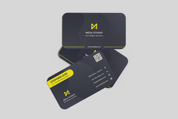 Floating business cards