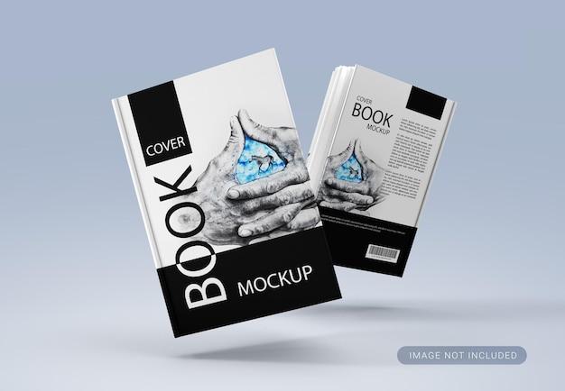 Floating cover book mockup design