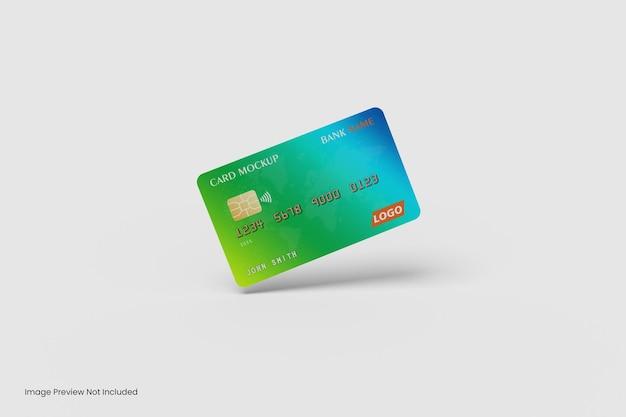 Дизайн макета плавающей кредитной карты 3d-рендеринга