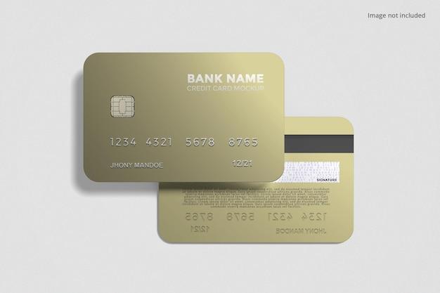 Floating credit card mockup