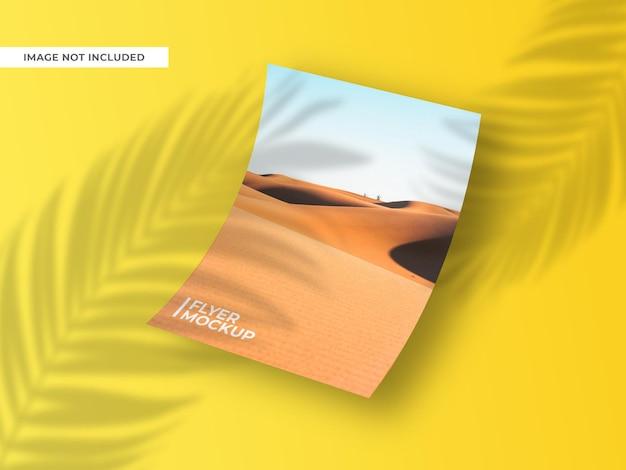 Floating flyer or brochure mockup design