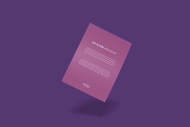 Floating flyer brochure mockup realistic