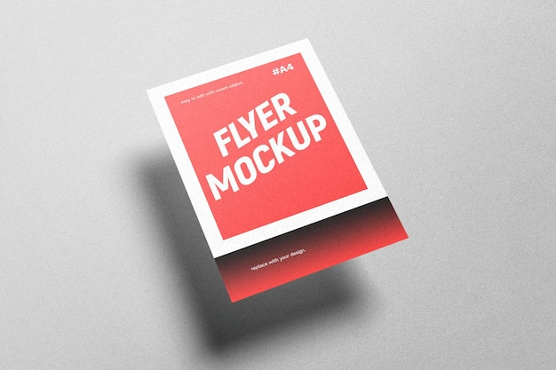 Floating flyer mockup
