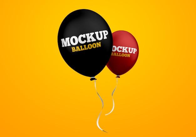 Floating helium balloons mockup