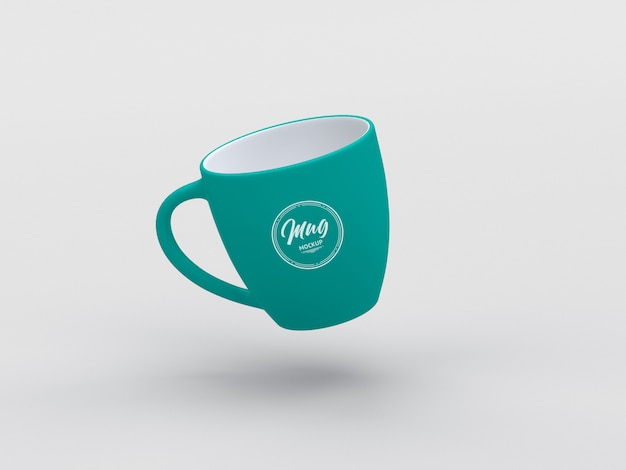 Floating mug psd mockup