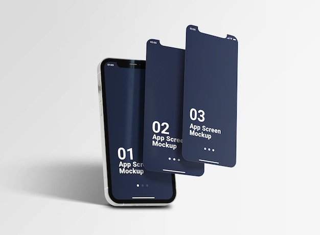Плавающий макет смартфона nterface 12 pro max Premium Psd
