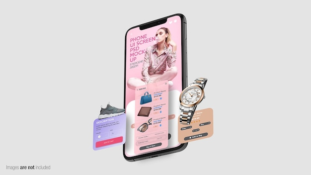 Floating phone with screens