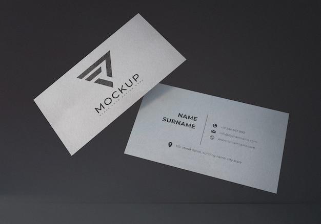 Плавающий реалистичный макет визитной карточки