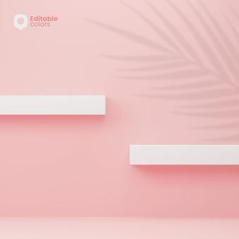 フローティングシェルフ製品の配置デザイン
