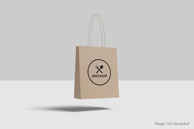 Плавающий дизайн макета сумки для покупок изолирован Premium Psd