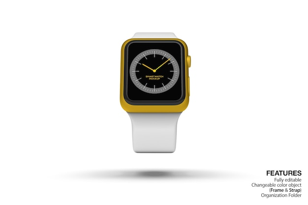 Floating smartwatch mockup