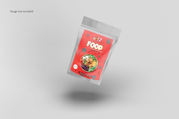 Floating snack packaging mockup
