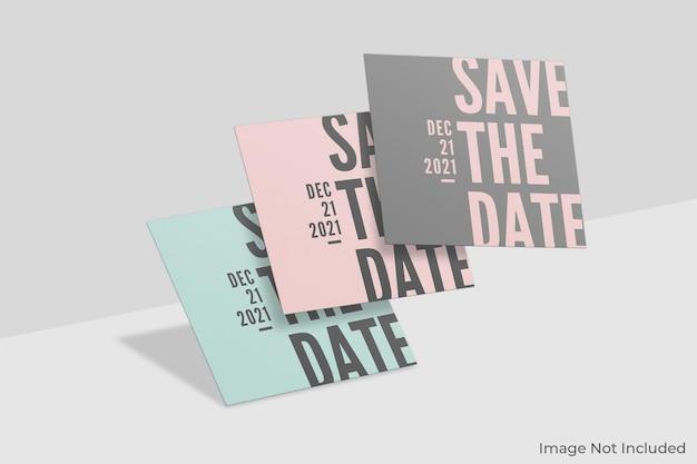 Плавающий квадратный дизайн макета приглашения