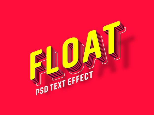 Floating text effect generator