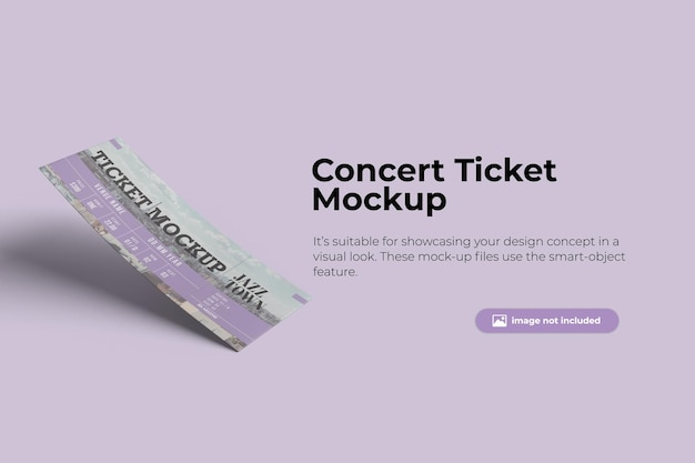 플로팅 티켓 목업 디자인