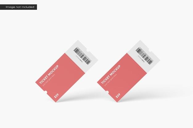 Floating ticket mockup