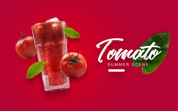 Floating tomato summer custom scene