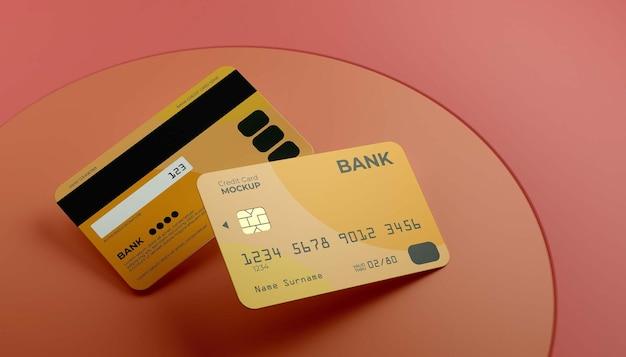 Плавающий макет двух кредитных карт