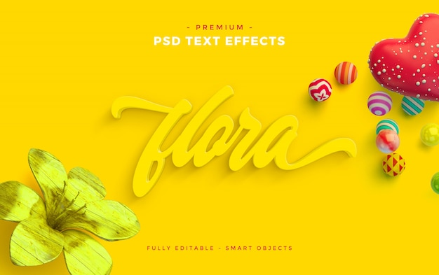 Flora text effect mockup