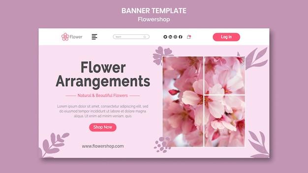 Modello di banner per composizioni floreali
