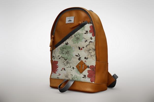 Floral bagpack mock up