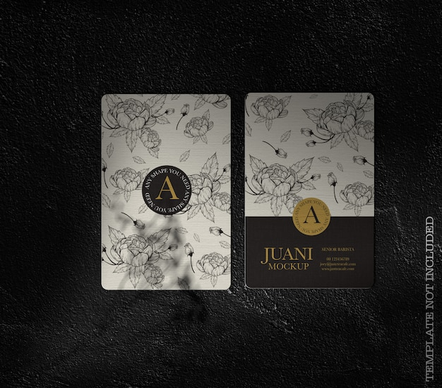 Floral business card mockup