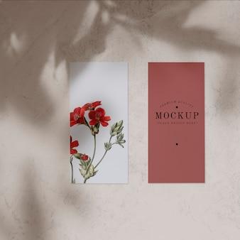 Floral card mockup