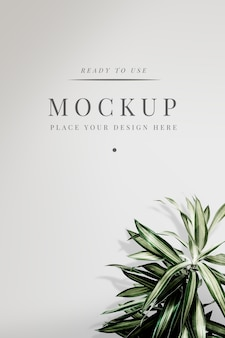 Floral cover mockup