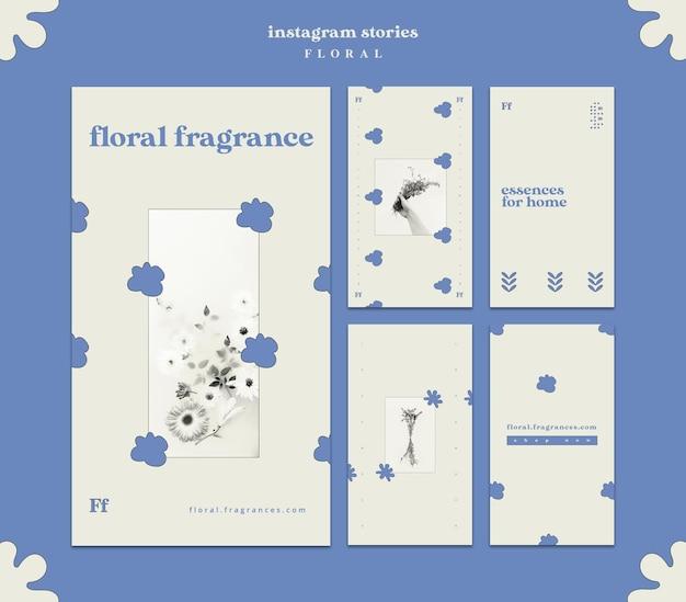 花柄のinstagramストーリー