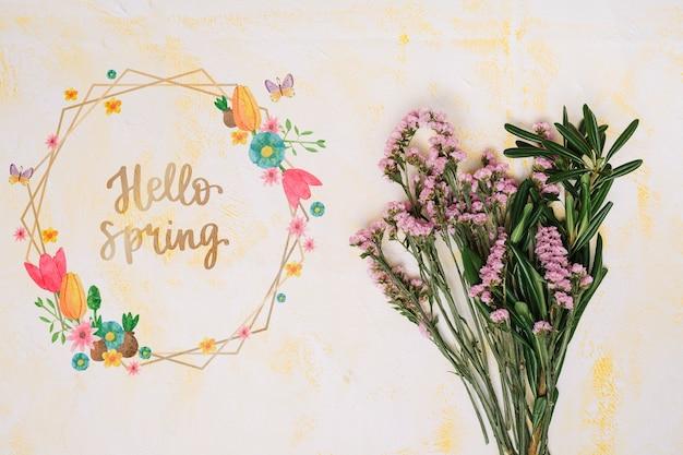 봄 꽃 프레임 모형