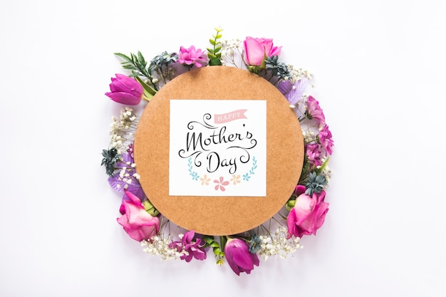 Floral mothers day mockup