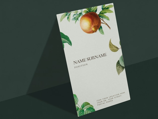Floral name card design