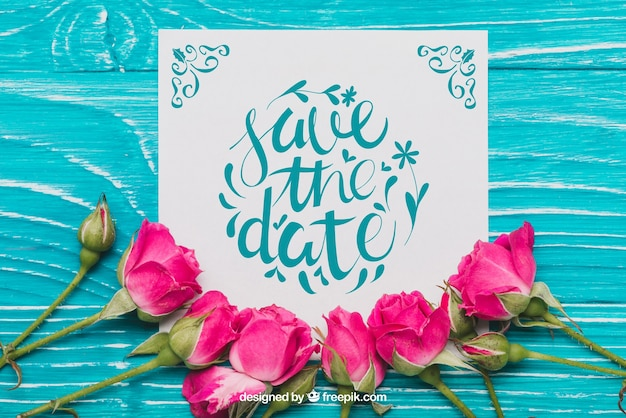 Floral save the date concept