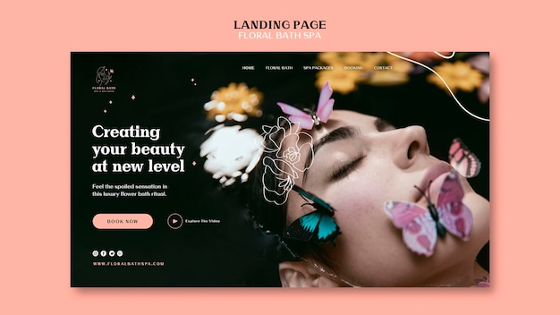Floral spa landing page template