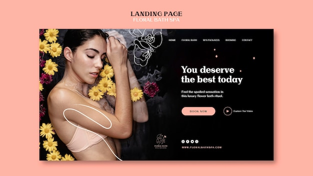 Floral spa template landing page