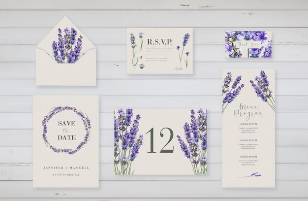 結婚式のイベントのための花のテンプレート