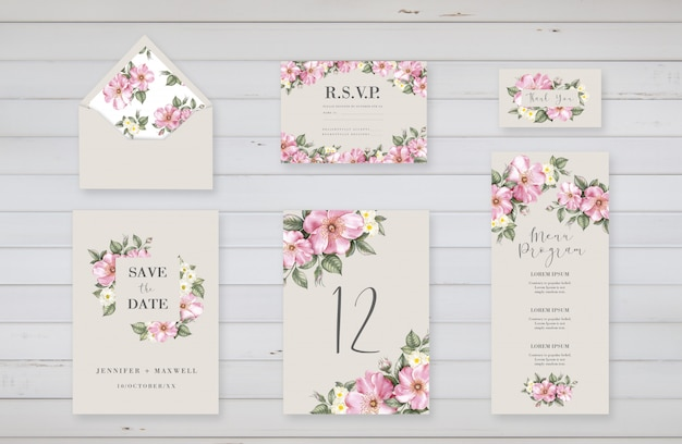 Floral templates for wedding event