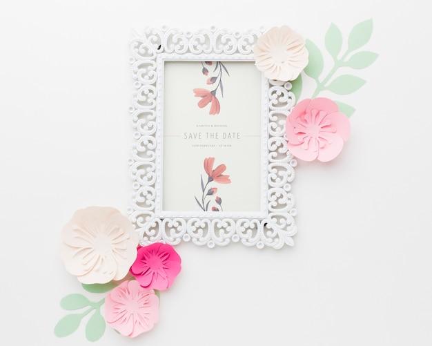 꽃 결혼 개념 모형