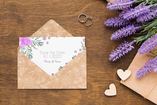 Цветочная концепция свадьбы макет