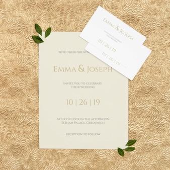 꽃 결혼식 초대