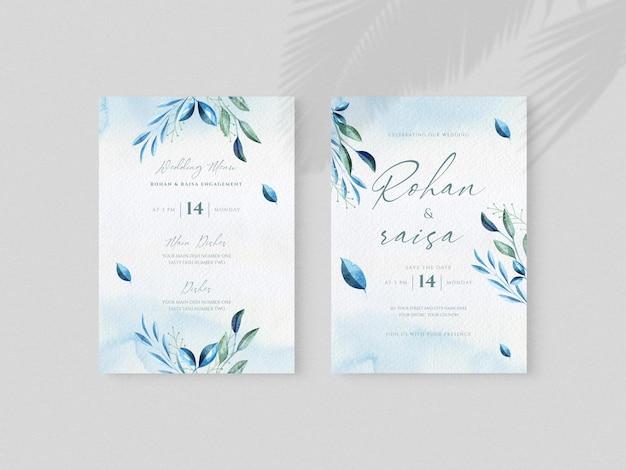 꽃 결혼식 초대 카드 디자인