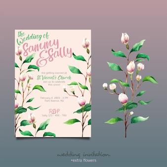 花結婚式の招待状