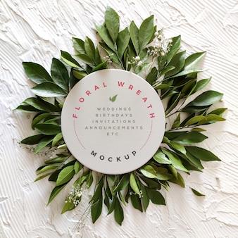 Floral wreath mockup