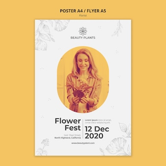 Florist ad poster template