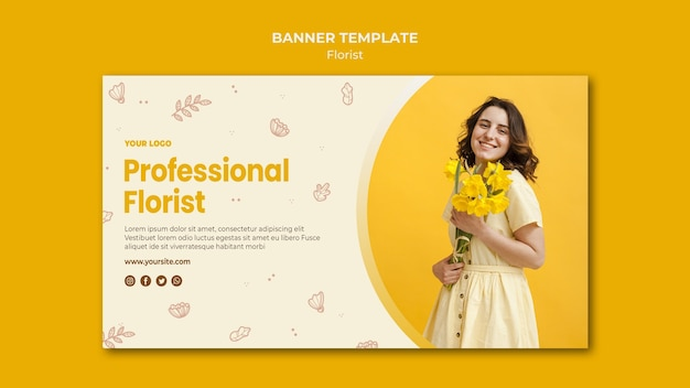 Шаблон баннера для цветочного магазина