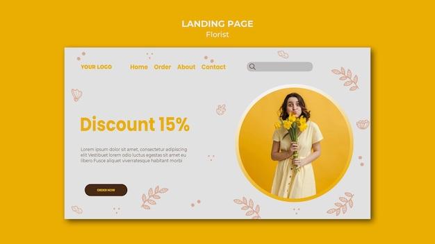 Florist shop landing page template