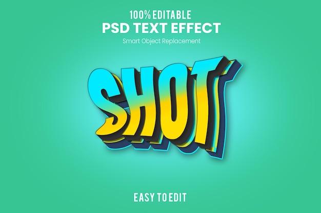 Шаблон текстового эффекта flow 3d